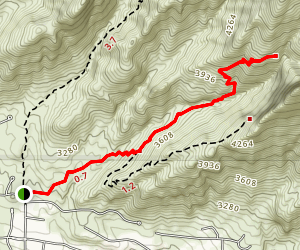 Pontatoc Canyon Trail Map