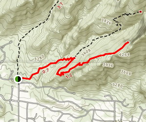 Pontatoc Ridge Trail Map