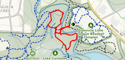 Lake Conestee Lake Bed Loop Map