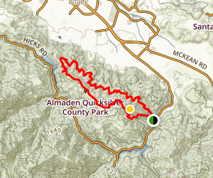 Almaden Quicksilver County Park Mountain Bike Trail Map