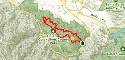 Almaden Quicksilver County Park Mountain Bike Trail - California ...