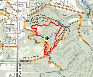 Deer Lick Cave Loop Trail - Brecksville Reservation Map