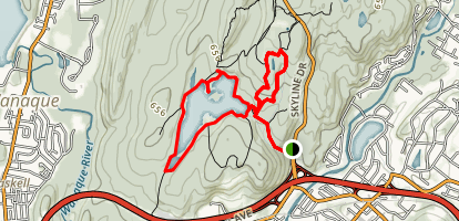 Ramapo Park Lake Loop Trail  Map