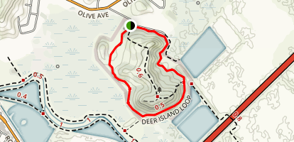 Marin County Open Space District: Deer Island Trail Map