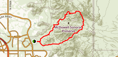 Tom's Thumb to Bell Pass Map