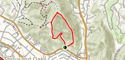 North Ranch Open Space: Hillcrest Open Space Preserve and Sandstone Hills Trail Map