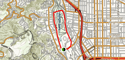 Rose Bowl Loop Trail Map