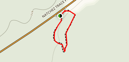Natchez Trace Parkway - Cypress Swamp Hike Map