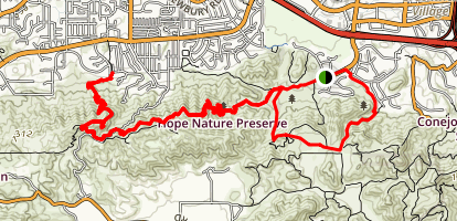 Los Robles Trail to Angel Vista Map