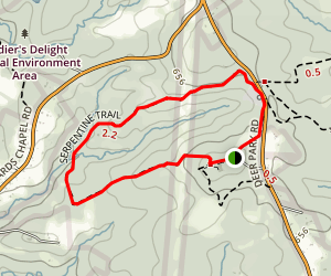 Soldiers Delight-Serpentine Trail Map