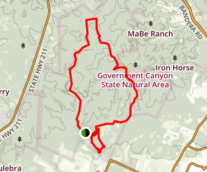 Government Canyon Loop Map