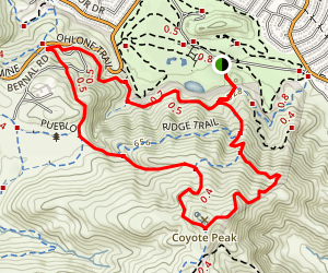 Ohlone Trail, Santa Teresa County Park Map