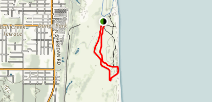 Dead River and Dunes Loop Trail Map