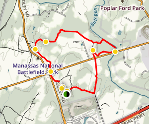 First Battle of Manassas Trail Loop  Map