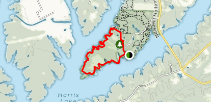 Harris Lake Peninsula Trail Map