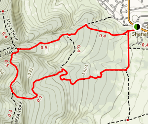 Shanahan Ridge Trail Map
