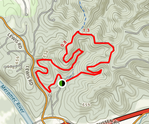 Flint Quarry and Chubb Trail Loop Map