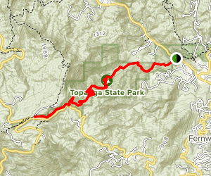 Hondo Canyon: Backbone Trail Map