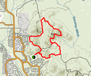 Hawk's Nest Trail and Dixie Mountain Loop Map