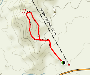Lake Mead: Northshore Summit Trail Map