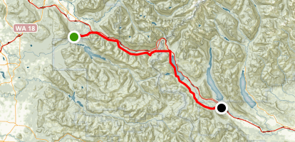 John Wayne Pioneer Trail: North Bend to Lake Easton Map