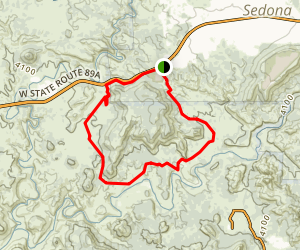 Red Rock Loop Trail Map