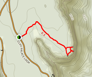 Soda Canyon Overlook Trail Map