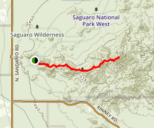 Hugh Norris Trail Map