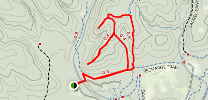 Bluff Spurs Trail Map
