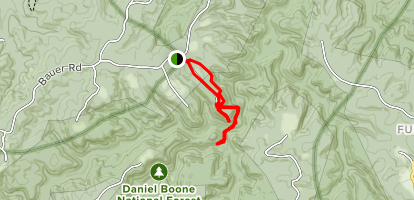 Three Forks of Beaver Creek Trail Map