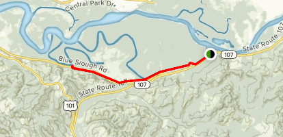 Chehalis River Sloughs Trail Map