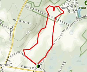 Lincoln to Great Brook Farm Ramble Map