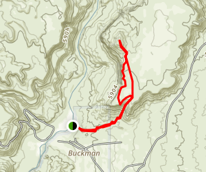 Buckman Mesa Otowi Peak Trail Map