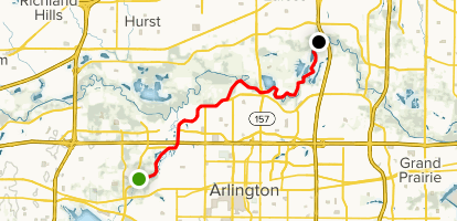 Map Of Arlington Texas.Pioneer Trail Texas Alltrails