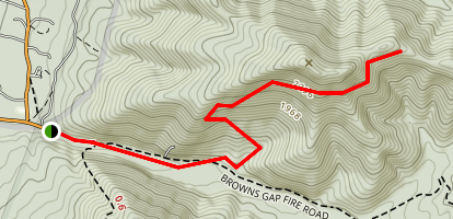 Browns Gap Map