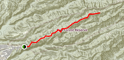 Manana Ridge Trail Map