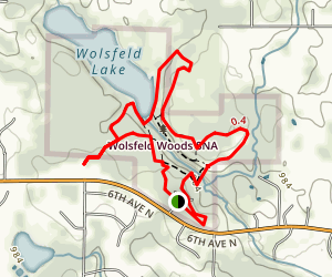 Wolsfeld Woods Scientific Natural Area (SNA) Map