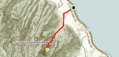 Sacred Falls Trails [CLOSED] Map