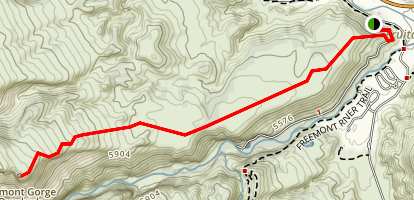 Fremont Gorge Trail Map