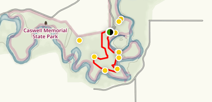 Caswell Short Loop Trail Map