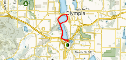 State Capitol and Central Olympia Map