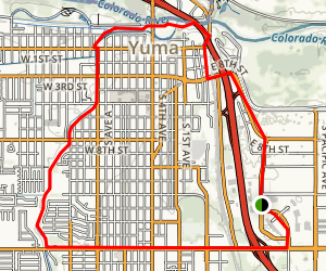 Kofa Mountains Scenic Drive: Yuma to Quartzsite Map