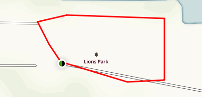 Lions Park Trail Map