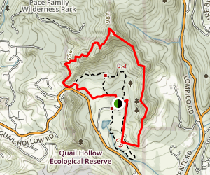 Quail Hollow Sunset Trail Map