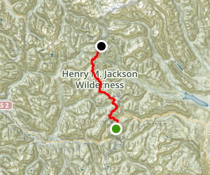 PCT:  Smith Brook to Stevens Pass Map