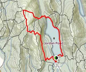 Jordan Pond, Sargent Mountain, and Penobscot Mountain Loop Trail Map