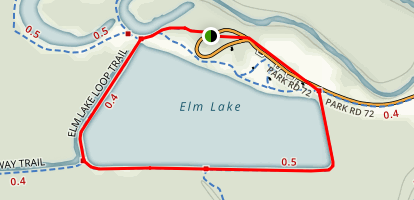 Elm Lake Loop Trail Map