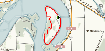 Horseshoe Lake - Walker's Island Trail Map