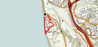 Torrey Pines State Reserve Trail  Map