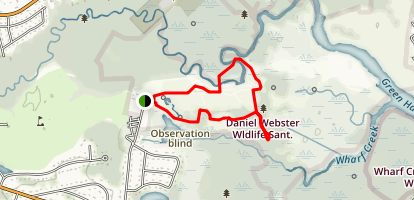 Daniel Webster Wildlife Sanctuary Map
